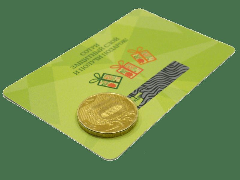 скретч панель на пластиковых картах